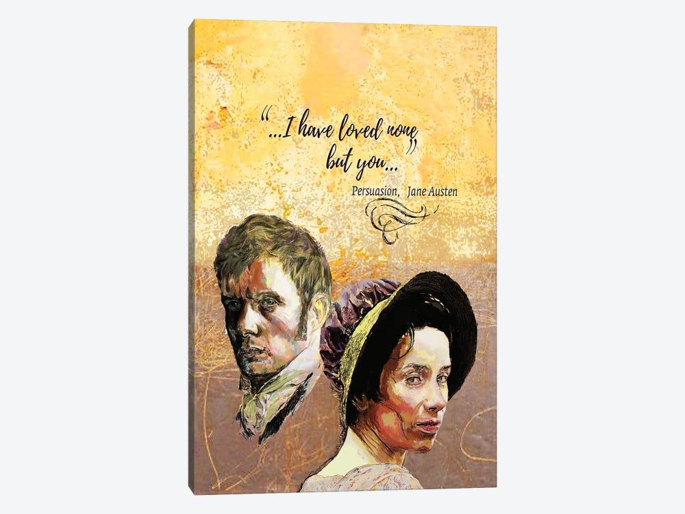 Jane Austen - Love Quote - Persuasion - B by Fanitsa Petrou 1-piece Canvas Wall Art