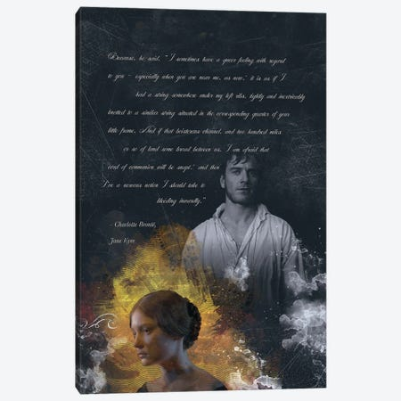 Jane Eyre Quote Canvas Print #FPT106} by Fanitsa Petrou Canvas Wall Art