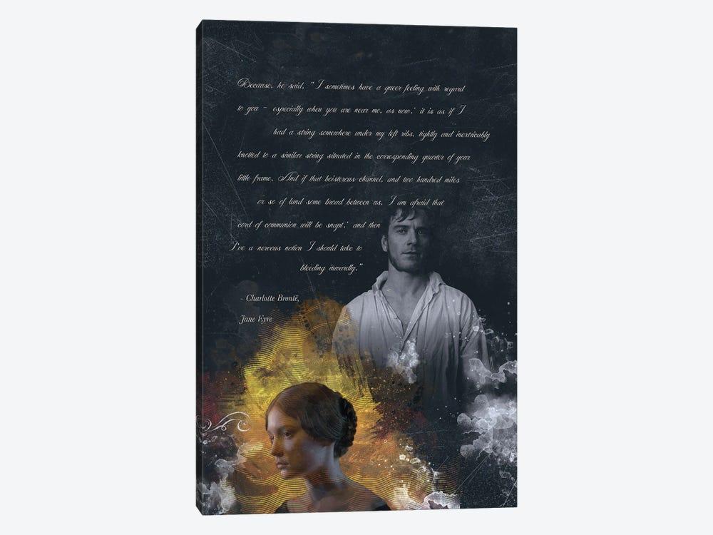 Jane Eyre Quote by Fanitsa Petrou 1-piece Canvas Print