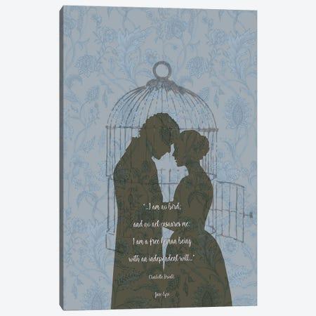 Jane Eyre - Feminist Quote - I'm No Bird Canvas Print #FPT107} by Fanitsa Petrou Canvas Art