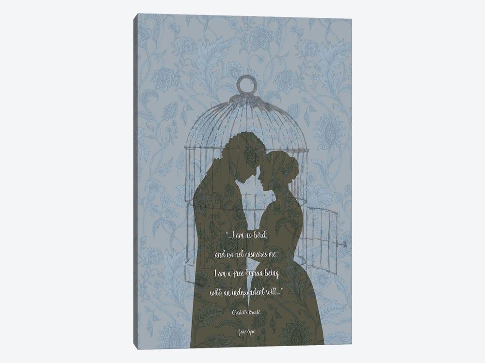 Jane Eyre - Feminist Quote - I'm No Bird by Fanitsa Petrou 1-piece Canvas Art