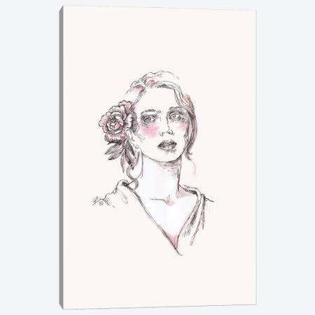 Line Drawing Portrait Of A Woman II Canvas Print #FPT111} by Fanitsa Petrou Canvas Artwork
