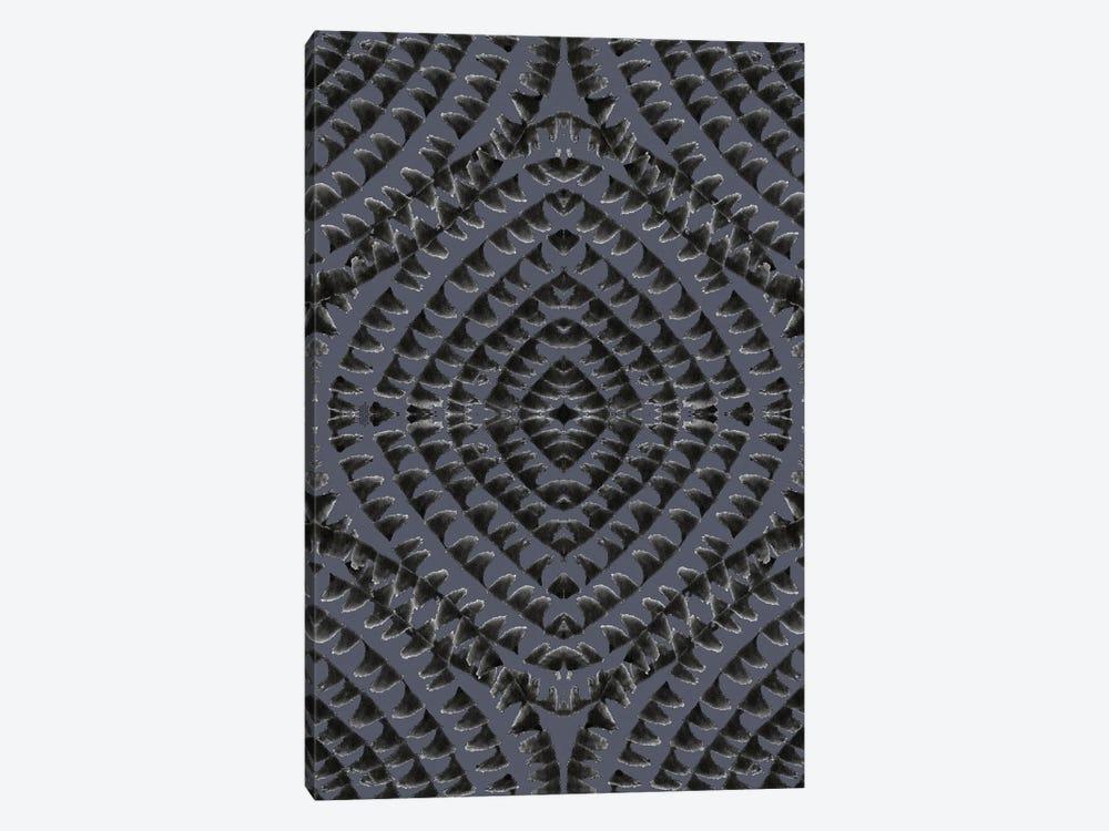 Abstract - Geometrical - Dark Grey by Fanitsa Petrou 1-piece Canvas Art