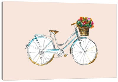 Bicycle With Basket Canvas Art Print