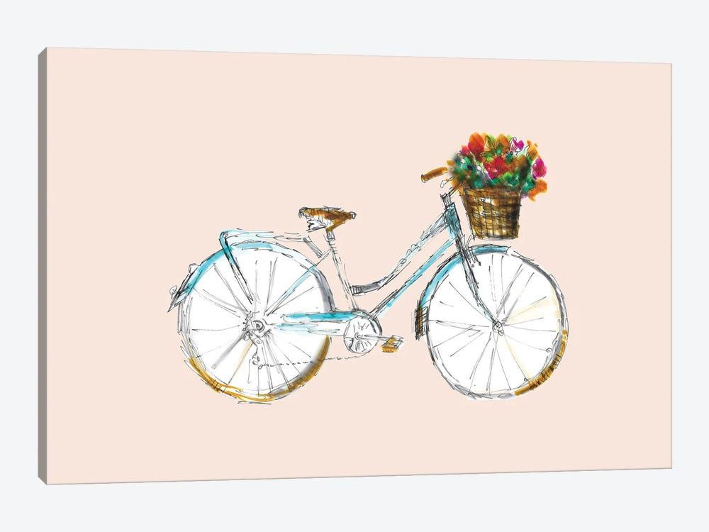 Bicycle With Basket by Fanitsa Petrou 1-piece Art Print