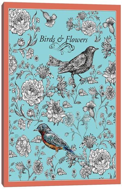 Birds And Flowers Canvas Art Print