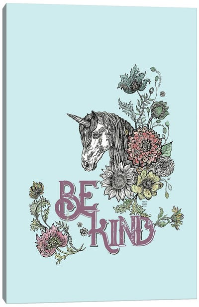 Be Kind - Unicorn Canvas Art Print