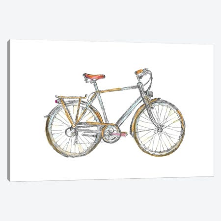 Bicycle Canvas Print #FPT130} by Fanitsa Petrou Canvas Art