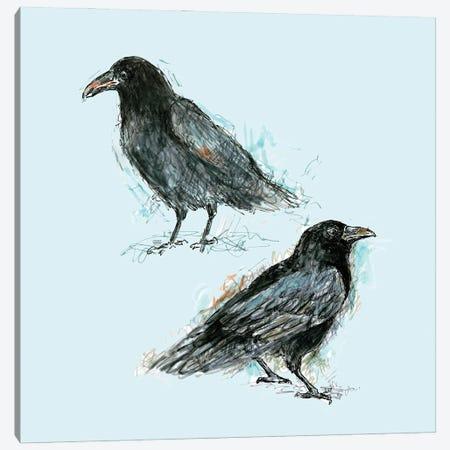 Ravens Canvas Print #FPT133} by Fanitsa Petrou Canvas Wall Art