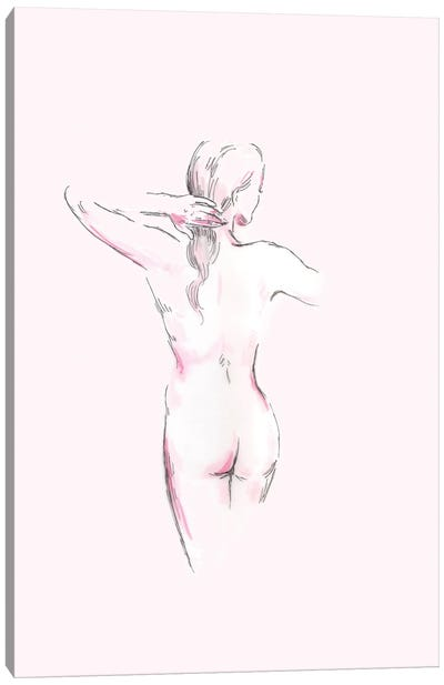 Nude Line Art Canvas Art Print