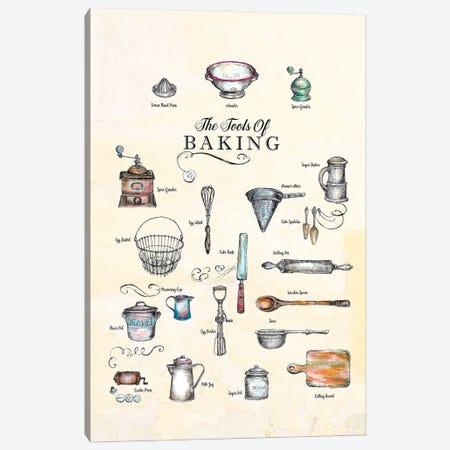 The Tools Of Baking - Kitchen Wall Art Canvas Print #FPT145} by Fanitsa Petrou Canvas Art