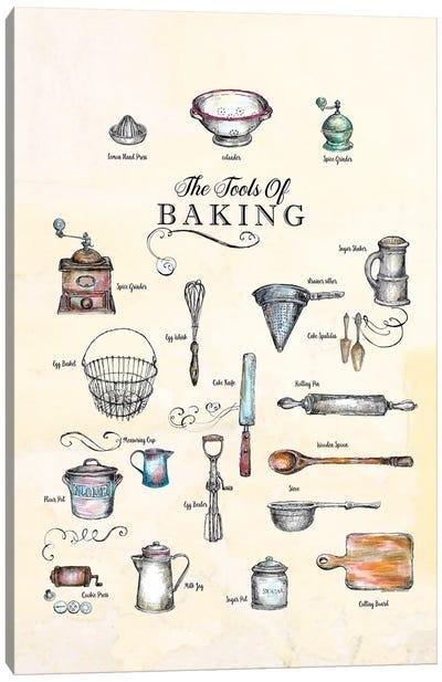 The Tools Of Baking - Kitchen Wall Art Canvas Art Print