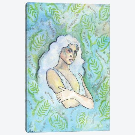 Wallpaper Girl Canvas Print #FPT149} by Fanitsa Petrou Art Print