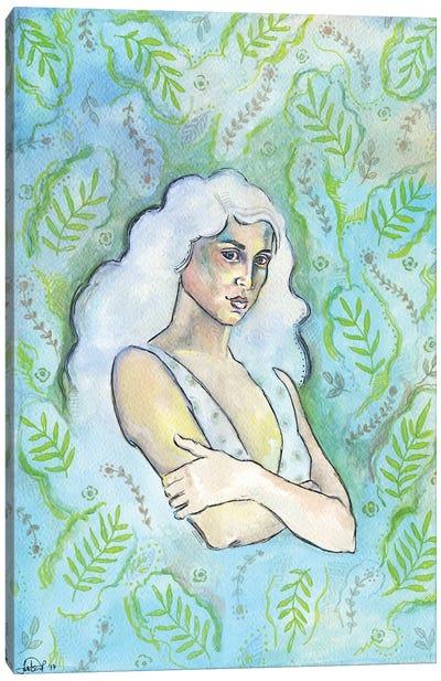 Wallpaper Girl Canvas Art Print