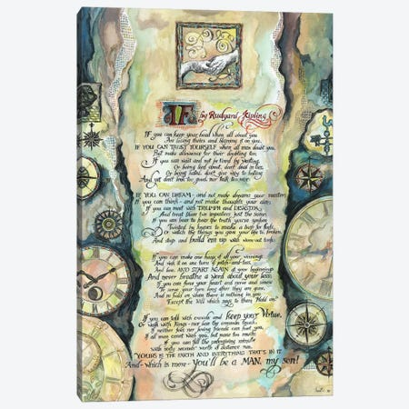 Calligraphy Of The Poem If By Rudyard Kipling Canvas Print #FPT152} by Fanitsa Petrou Canvas Wall Art