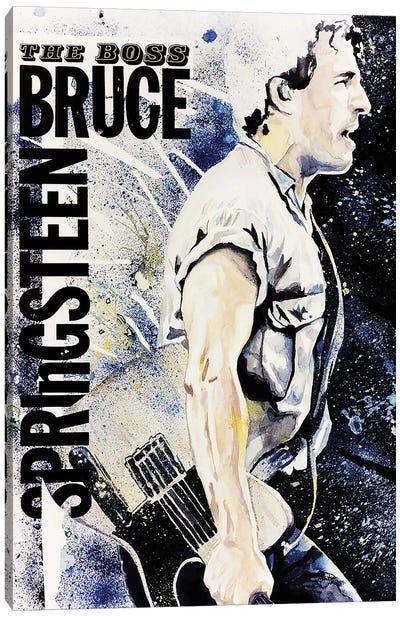 Bruce Springsteen Portrait Canvas Art Print