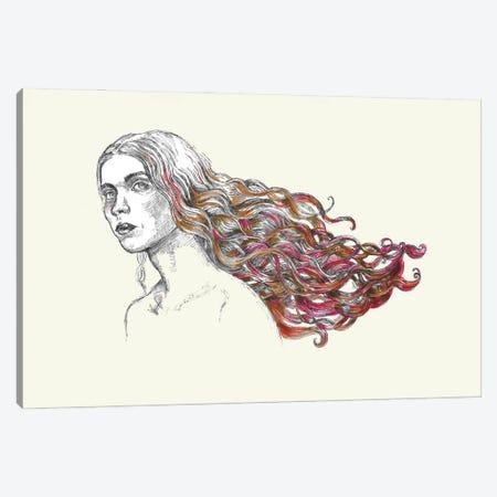 Red Hair Canvas Print #FPT164} by Fanitsa Petrou Canvas Artwork