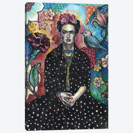Frida Canvas Print #FPT18} by Fanitsa Petrou Art Print