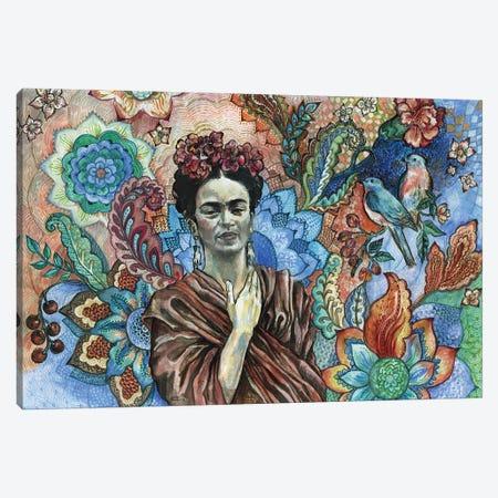 Frida - Sacred Garden Canvas Print #FPT20} by Fanitsa Petrou Canvas Artwork