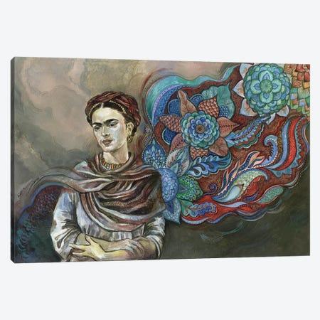 Frida Floral I Canvas Print #FPT22} by Fanitsa Petrou Canvas Art