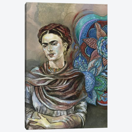 Frida Floral II Canvas Print #FPT23} by Fanitsa Petrou Canvas Wall Art