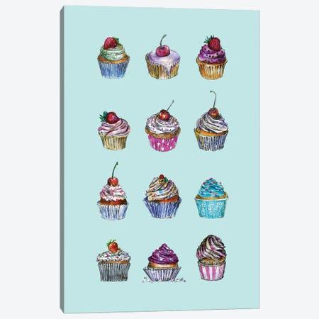 Cupcakes Canvas Print #FPT247} by Fanitsa Petrou Art Print