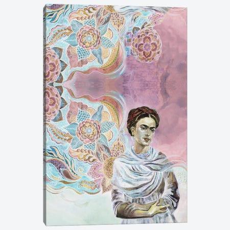 Frida On Pink Canvas Print #FPT24} by Fanitsa Petrou Canvas Art Print