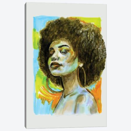 Afro Canvas Print #FPT264} by Fanitsa Petrou Art Print