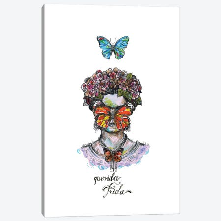 Frida - Butterfly Canvas Print #FPT26} by Fanitsa Petrou Canvas Art Print