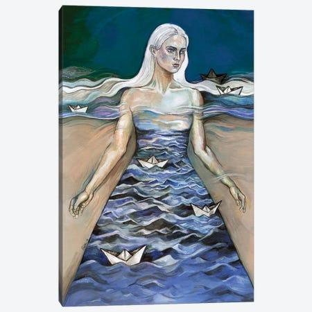 Surreal - Paper Boats Canvas Print #FPT27} by Fanitsa Petrou Canvas Print