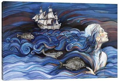 Surreal - Ocean Hair Canvas Art Print