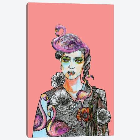 Flamingo Girl Canvas Print #FPT293} by Fanitsa Petrou Canvas Art Print