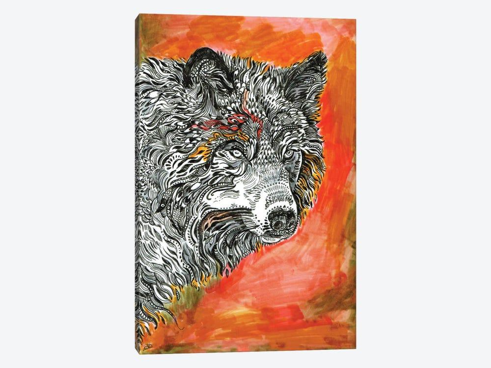 Red Wolf by Fanitsa Petrou 1-piece Canvas Art Print