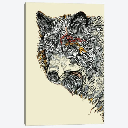 Wolf Spirit Canvas Print #FPT296} by Fanitsa Petrou Canvas Art