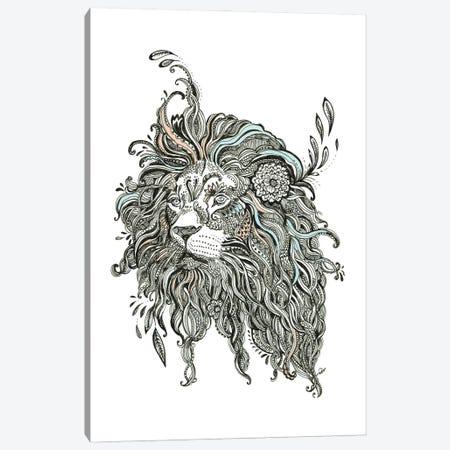 Lion Head Canvas Print #FPT298} by Fanitsa Petrou Art Print