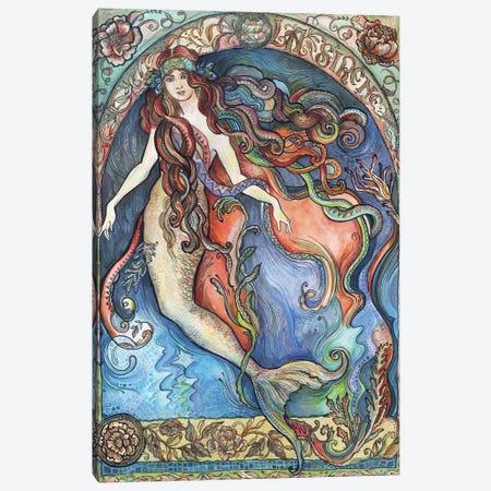 A Mermaid - La Sirène Canvas Print #FPT2} by Fanitsa Petrou Canvas Art