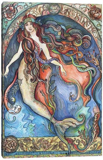 A Mermaid - La Sirène Canvas Art Print