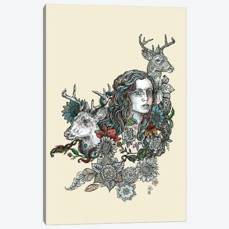 Spirit Animal Deer Canvas Print #FPT308} by Fanitsa Petrou Art Print