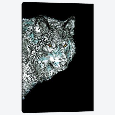 Spirit Animal Wolf Canvas Print #FPT310} by Fanitsa Petrou Canvas Artwork