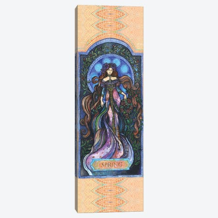 Art Nouveau Spring - Iii Canvas Print #FPT314} by Fanitsa Petrou Art Print