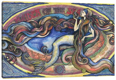 Maiden Of The Sea - Mermaid Art Canvas Art Print
