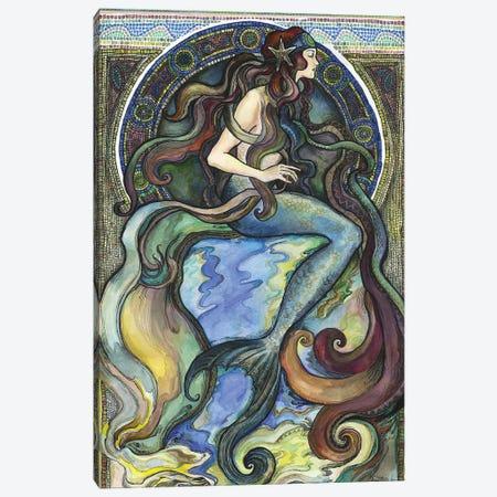 Under The Sea - A Mermaid I Canvas Print #FPT32} by Fanitsa Petrou Canvas Art Print