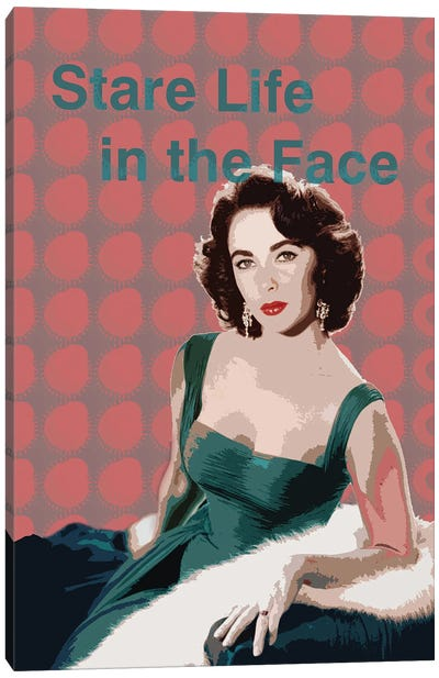 Elizabeth Taylor Star Life In The Face Canvas Art Print
