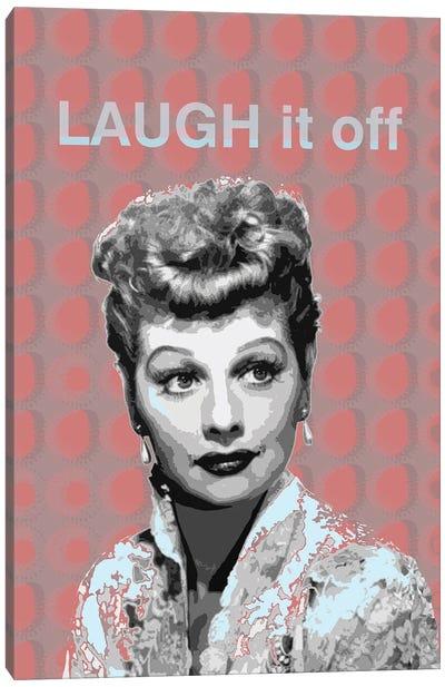 Lucille Ball Laugh It Off Canvas Art Print