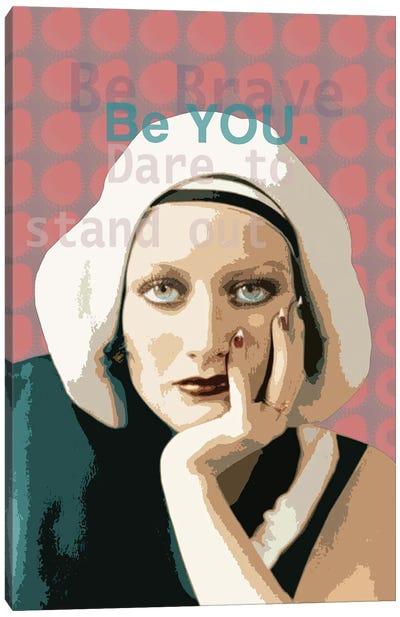 Joan Crawford Be you Canvas Art Print