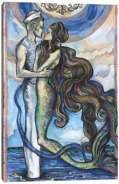 The Sailor And The Mermaid Canvas Art Print