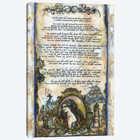 The Sailor And The Mermaid Tale I Canvas Print #FPT35} by Fanitsa Petrou Canvas Artwork