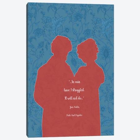 Jane Austen Quote - Pride And Prejudice - I Canvas Print #FPT39} by Fanitsa Petrou Canvas Art Print