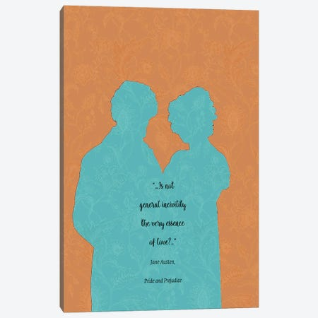 Jane Austen Quote - Pride And Prejudice - Iii Canvas Print #FPT41} by Fanitsa Petrou Canvas Wall Art
