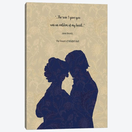 Anne Brontë Quote - The Tenant Of Wildfell Hall Canvas Print #FPT43} by Fanitsa Petrou Canvas Artwork